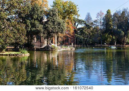Pond In Villa Borghese Public Gardens