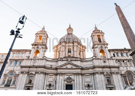 Church Of Sant'agnese In Agone On Piazza Navona