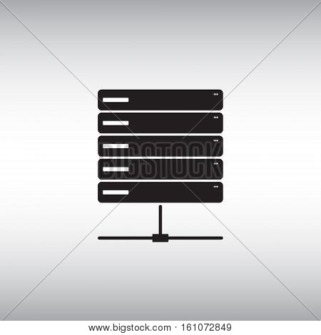 Server flat vector icon. Isolated server vector icon. Data center symbol. Database vector sign.