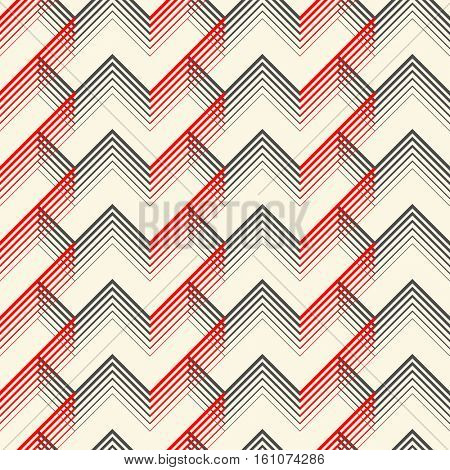 Seamless Tartan Pattern. Vector Black and Red Woven Background. British Plaid Ornament. Abstract Diagonal Art Wallpaper. Wrapping Paper Checks Texture