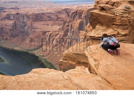 panorama Horseshoe Canyon on the Colorado River in the United States