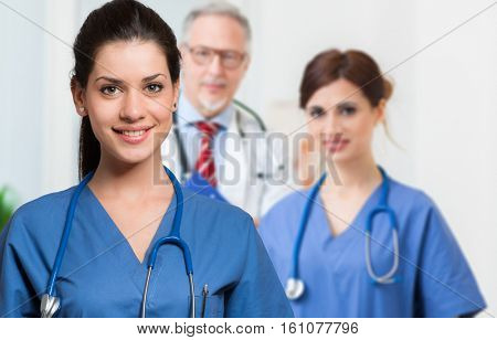 Senior doctor and nurse portrait