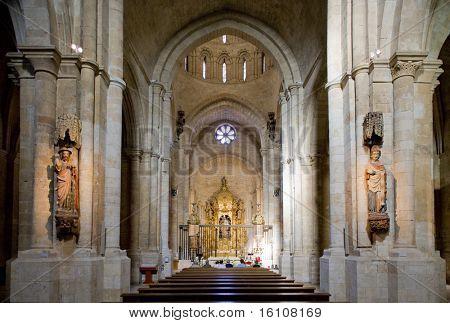 interior of church of Colegiata de Santa Maria, Toro, Zamora Province, Castile and Leon, Spain poster