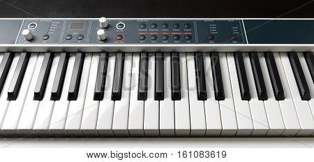 Piano Keys. Full-sized Keyboard.