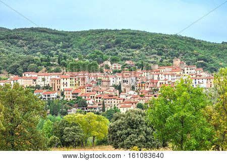 Palalda in Pyrenees-Orientales, Languedoc-Roussillon, France. Nice view of the historic city.