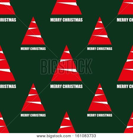 christmas seamless pattern with red and white fir. vector
