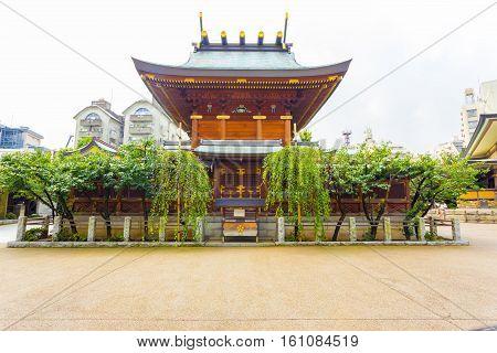 Yushima Tenman-gu Shrine Rear Tokyo