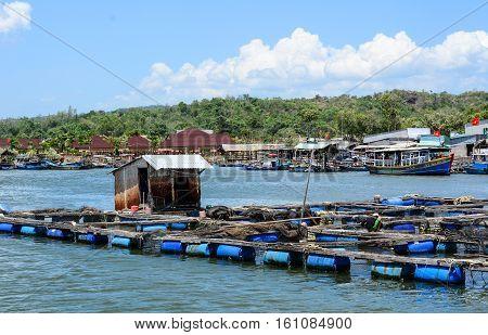 Tourist Boats At Pier In Vung Tau, Vietnam
