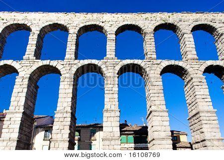 Roman aqueduct, Segovia, Castile and Leon, Spain