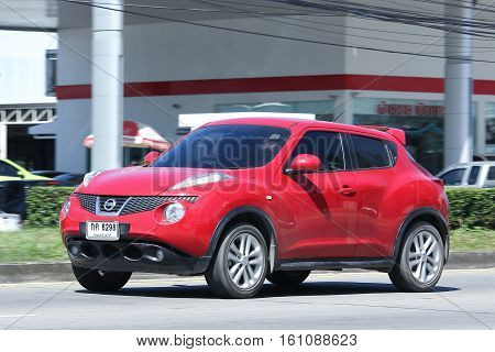 CHIANG MAI THAILAND - OCTOBER 31 2016: Private car Nissan Juke. On road no.1001 8 km from Chiangmai city.