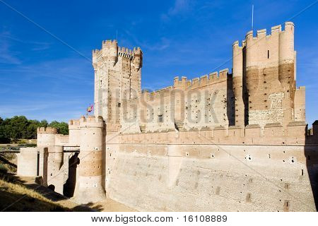La Mota Castle, Medina del Campo, Valladolid Province, Castile and Leon, Spain poster
