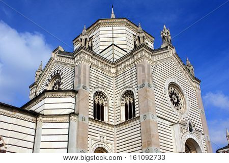 The Famedio, the main memorial chapel of the Monumental Cemetery, Milan, Italy