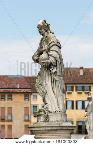 Statue on Piazza of Prato della Valle Padova Italy.