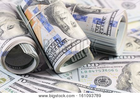 The Hundred Dollar Banknotes As Background