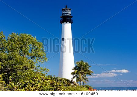 Cape Florida Lighthouse, Key Biscayne, Miami, Florida, USA