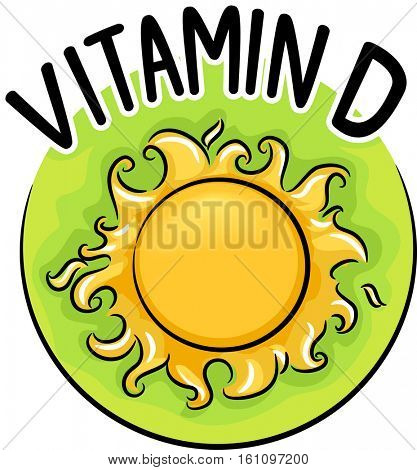 Icon Illustration Promoting the Health Benefits of a Daily Dose of Sunshine