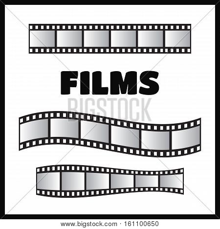 Film roll vector film 35mm slide film frame set vector