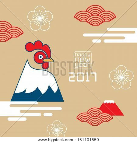 happy new year rooster 2017Chinese new year greetings Year of rooster fortune chicken