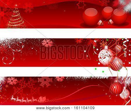 Christmas Design Set - Illustration Web Banner Banner - Sign Holiday - Event Christmas Christmas Decoration Christmas Ornament Frame