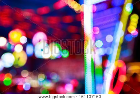 Blurred Lights Of A Funfair