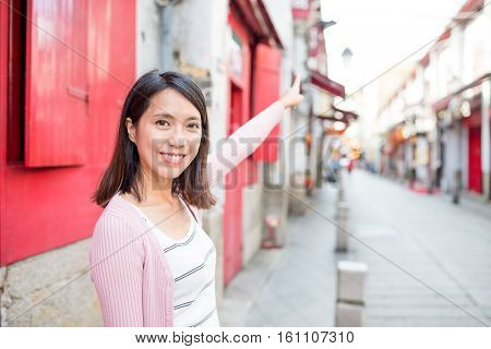 Woman travel in Macao city