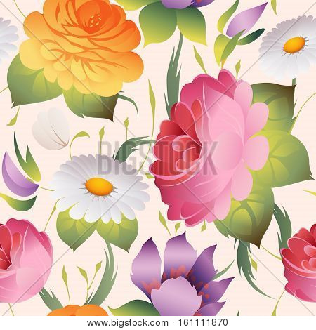 seamless floral vintage pattern vector abstract background