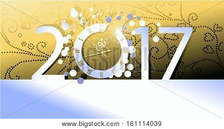 New Year decorative  background - vector illustration