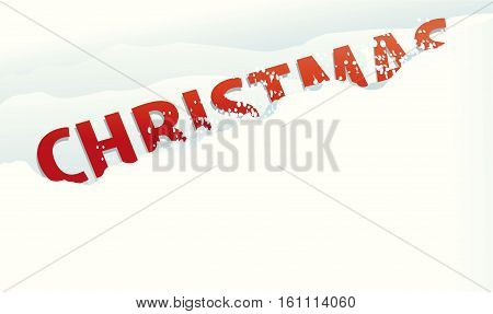 Holiday background with Christmas sign - vector illustration