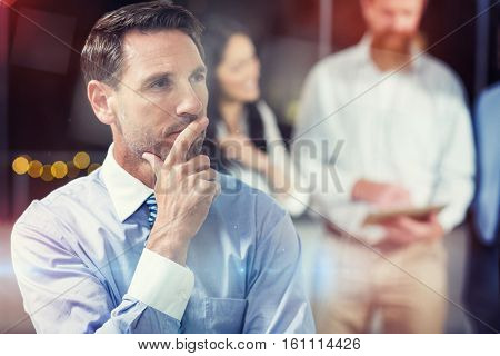 Close-up of thoughtful businessman in office