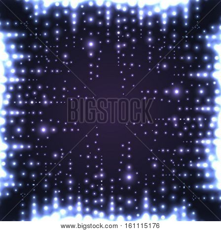 Square frame of musical equalizer with sequins. Vector element for your creativi