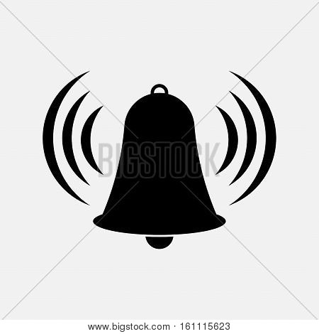icon bell, bell tower, warning, information fully editable vector image