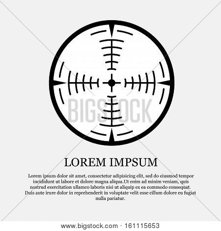 icon crosshair, sight, hunt, hit the target, fully editable vector image