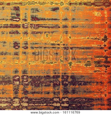 Oldest vintage background in grunge style. Ancient texture with different color patterns: yellow (beige); brown; gray; red (orange); purple (violet); pink