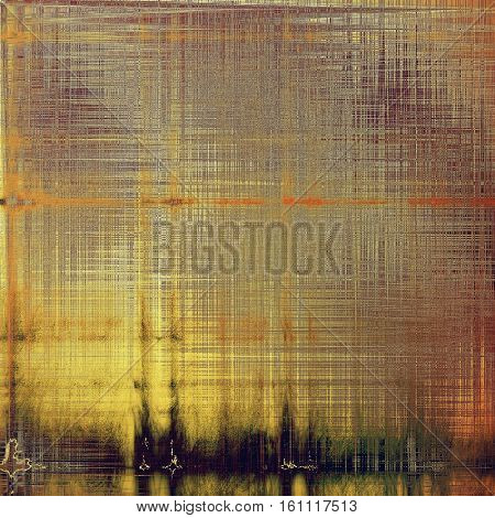 Old grunge background or aged shabby texture with different color patterns: yellow (beige); brown; gray; red (orange); purple (violet)