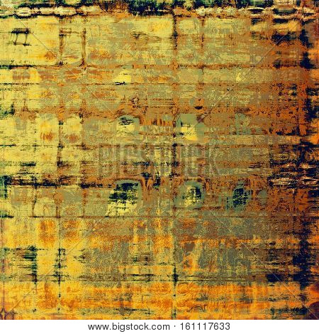 Abstract grunge background or aged texture. Old school backdrop with vintage feeling and different color patterns: yellow (beige); brown; gray; green; blue; red (orange)