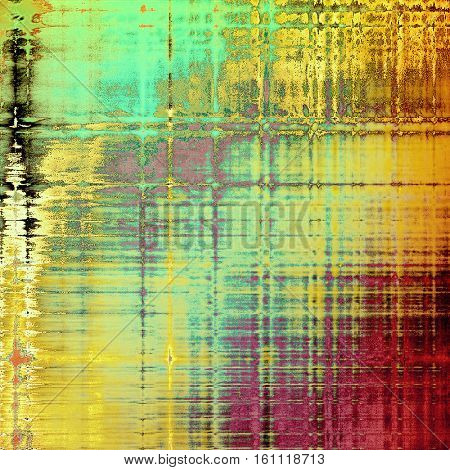Scratched grunge background or spotted vintage texture. With different color patterns: yellow (beige); brown; green; blue; red (orange); purple (violet)