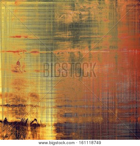 Abstract retro design composition. Stylish grunge background or texture with different color patterns: yellow (beige); brown; gray; red (orange); purple (violet); pink