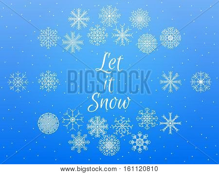 Let It Snow. Winter Background. Vector Illustration.