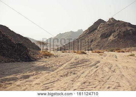 Mountain in desert in Sharm El Sheikh Egypt