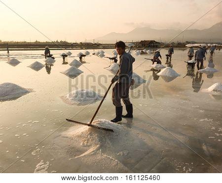 Salt Field In Nha Trang, Vietnam