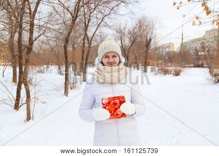 The Girl In A Winter Down-padded Coat