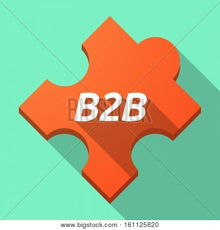 Long Shadow Puzzle Piece With    The Text B2B