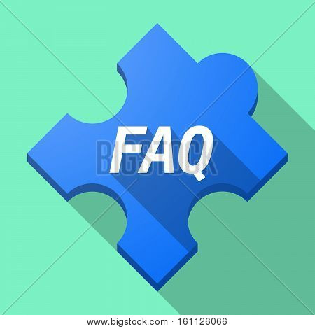 Long Shadow Puzzle Piece With    The Text Faq