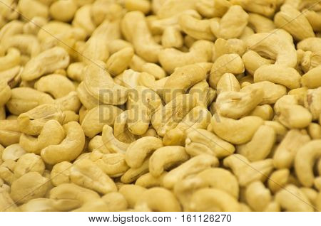 Organic Cashew with no shell on a background
