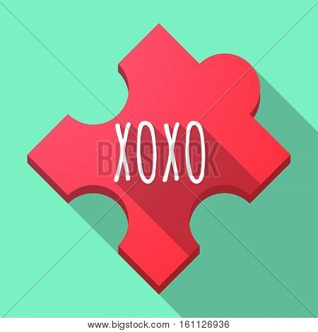 Long Shadow Puzzle Piece With    The Text Xoxo