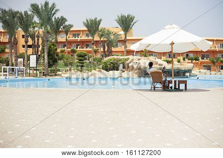 Bar swimming pool sharm el sheikh, Egypt. Hotel, resort