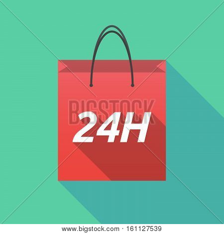 Long Shadow Shopping Bag With    The Text 24H