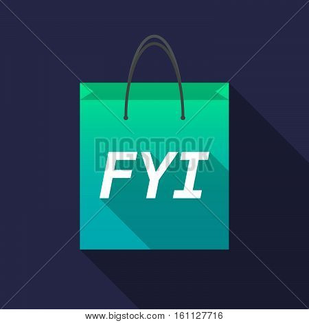 Long Shadow Shopping Bag With    The Text Fyi