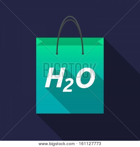 Long Shadow Shopping Bag With    The Text H2O