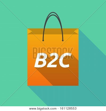 Long Shadow Shopping Bag With    The Text B2C